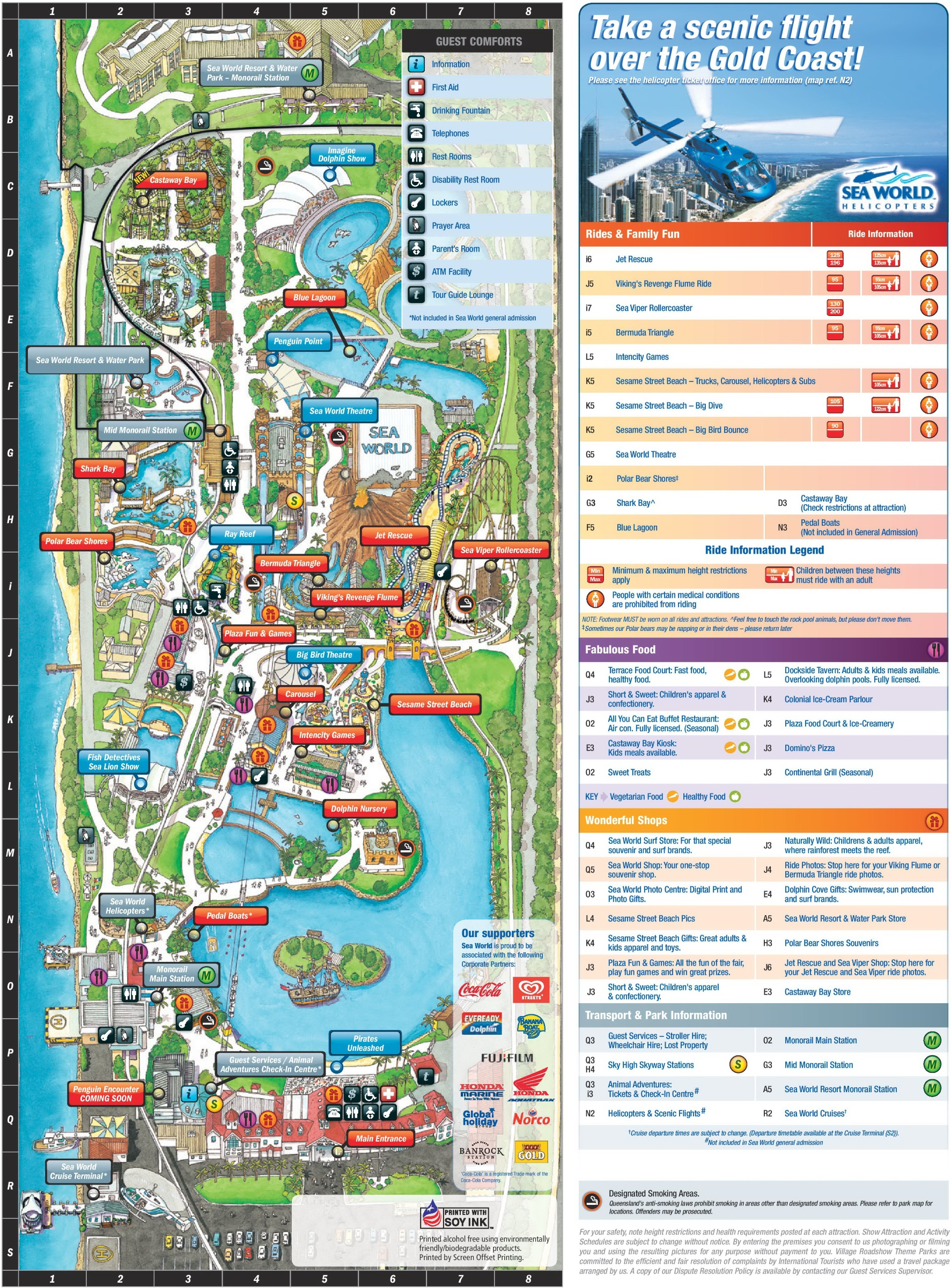 Gold coast tourist map inc attractions hotels landmarks gumiabroncs Images