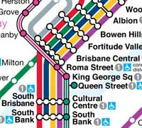 GC and Brisbane train routes and stations map