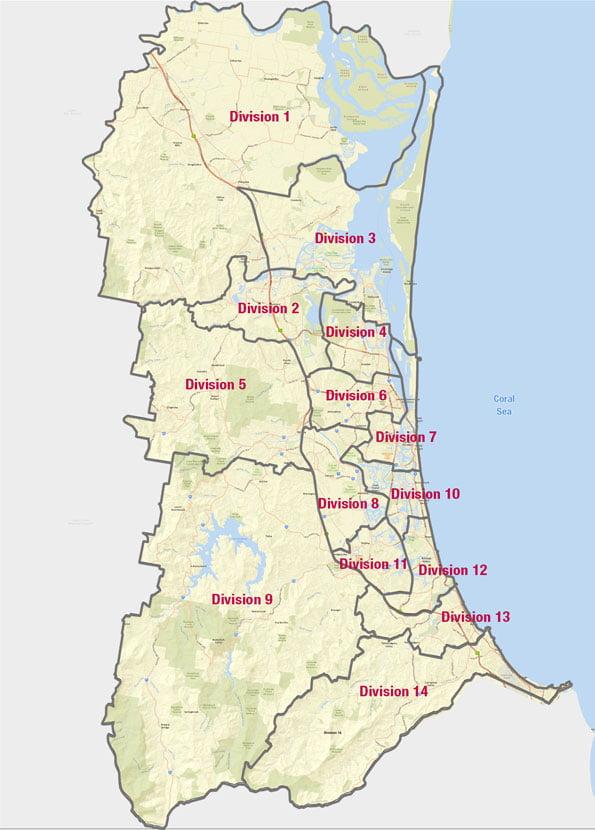 Australia Map Gold Coast.Suburbs Of The Gold Coast Gold Coast Info